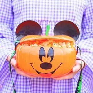 Disney Parks Mickey Pumpkin Popcorn Bucket